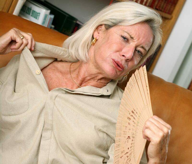 Женщина во время климакса