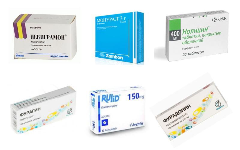 Антибиотики при цистите список